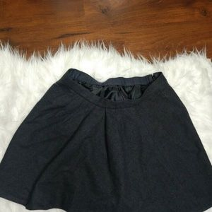 J Crew Wool Skirt Gray Ruffle Pleated Wooltown